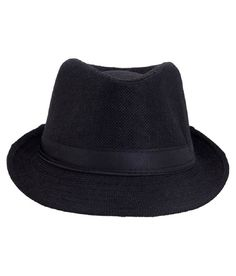 Rajputana Brothers Black Cotton Mix Polyester Fedora Hat For Men Fedora Hat, Head Wraps, Black Cotton, Shades, Cap, Stuff To Buy, Collection, Fashion, Baseball Cap