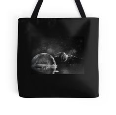 Space snail printed bag