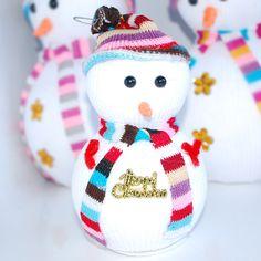 Novelty-Random-Christmas-Joyful-Snowman-3D-Hanging-Decorations-with-Colorful-Hat