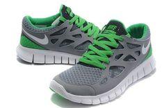 buy online 49f26 1a70a Discount 2014 Nike Free Run 2 Men Shoes Light Grey Green Online Shop