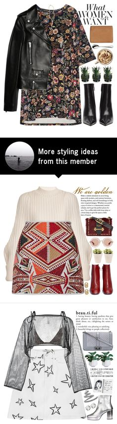 """""""i don't want to be just a thought that crosses your mind; i want to be the thought that stops other's from crossing your mind"""" by rupp on Polyvore featuring Balenciaga, Status Anxiety, Yves Saint Laurent, STELLA McCARTNEY, Robbe & Berking, The Giving Keys, leatherjacket, floralprint, floraldress and urbanchic"""