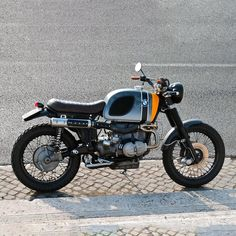 Cafe Racer Pasión — BMW Scrambler by Ottodrom Cafe Racer Honda, Cafe Racers, Cafe Racer Build, Brat Bike, Cafe Racer Motorcycle, Motorcycle Style, Bmw Scrambler, Bmw Boxer, Bobber Custom