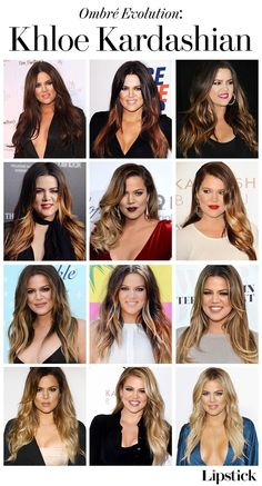 Khloe Kardashian's ombré hair evolution