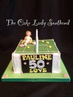 Tennis cake Cake by TheCakeLadySouthend