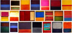 21 Rothkos: Rothko may well have changed how artists think. Good thing? Take a look at the 21 Rothkos on the right, all replications of the same concept.