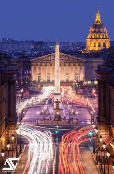 Place de la Concorde, Paris, France……reépinglé par Maurie Daboux….ღ. ¸.•*¨