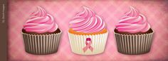 Pink Cupcakes Facebook Timeline by GL Stock Images