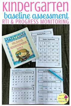 Kindergarten customizable baseline assessment for whole class, RTI & progress monitoring.Plus forms to track growth for the entire year. The data collected is great for report cards, parent-teacher conferences, special education meetings, IEP meetings and more. Editable tracker to help you meet your specific needs.