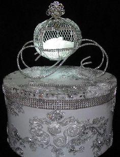 Lighted Silver Cinderella Carriage Fairy by FairytaleandDreams