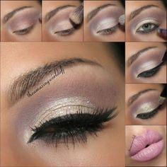 Eye makeup tutorial - pretty pink eye