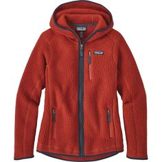 Patagonia - Retro Pile Hooded Jacket - Women's - Roots Red