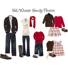 Fall Winter Family Pic OutfitsI Love Thisbut