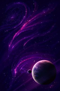 Space art Purple Insanity by lordgibby The Purple, Purple Stuff, All Things Purple, Shades Of Purple, Purple Art, Planets Wallpaper, Galaxy Wallpaper, Space And Astronomy, Galaxy Art