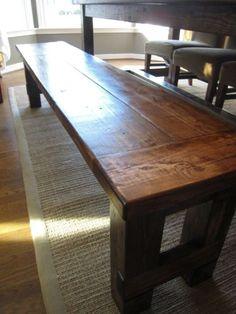 DIY Bench for farmhouse table
