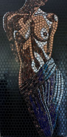 An intriguing collection for art lovers and a sensual home addition for a bachelor's apartment, these original art mosaics come from artist Mark Roberts an