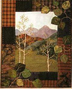 "rocky mountains pattern   Aspen Grove Miniature Quilt Pattern Rocky Mountain Memories 8"" x 10 ..."