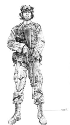 Army Soldier Drawing