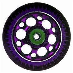 Purple / Black Team Dogz Alloy Core 100mm ABEC 9 Scooter Wheel