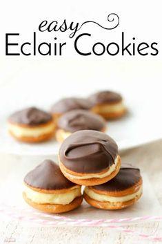 Easy Eclair Cookies-no bake dessert | Simple and Seasonal