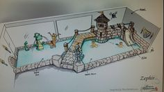 Castle themed playpool indoor Swimming Pool Designs, Swimming Pools, Castle, Indoor, Art, Interior, Pools, Swiming Pool, Kunst