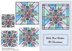 Stained Glass Snowflake Pyramid on Craftsuprint - Add To Basket!