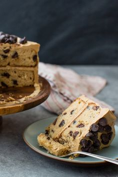 Mocha Chocolate Chip Cake...This recipe is an adaptation of a chocolate chip cake with mocha frosting that originated with the Fox sisters' mother. The cake has a tender crumb, and the frosting is silky and r...
