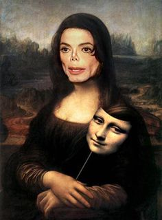 Michael Jackson Mona Lisa by Leonardo da Vinci Tableaux Vivants, Mona Lisa Parody, Mona Lisa Alien, Wal Art, Mona Lisa Smile, Arte Pop, Photomontage, Funny Art, It's Funny