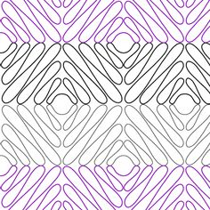 Zig Zag Meander - Digital - Quilts Complete - Continuous Line Quilting Patterns