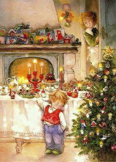 de – Deine kostenlose Bildercommunity – Vintage weihnachten - To Have a Nice Day Christmas Scenes, Noel Christmas, Christmas Greetings, Winter Christmas, Christmas Glitter, Christmas Postcards, Christmas Goodies, Christmas Treats, Illustration Noel