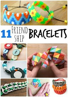 11 Friendship Bracelets - these are great for Summer Camp or for making and sending to your friends over the long summer holidays!