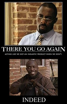 Stringer and Omar from The Wire. #thewire #omar #stringer #economics