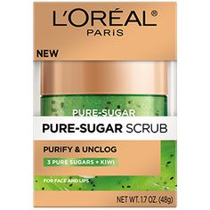 Purify and Unclog Sugar Scrub For Face - L'Oréal Paris