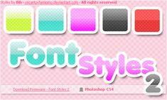 Font Styles 2 for PS by recanto-feminino.deviantart.com on @deviantART