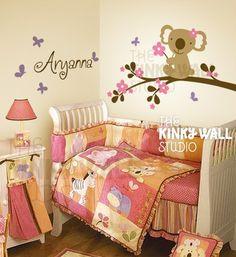 Wall Decal Wall Sticker Nursery Decal  Miss Koala by KinkyWall, $64.00