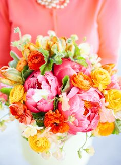 Pink & Orange | Exquisite Wedding Bouquet
