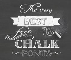 16 Amazing Free Chalkboard Fonts!