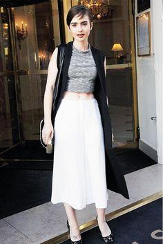 nice Lily Collins Paris    Kombini Sokak Stili