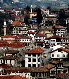 Wooden houses in Safranbolu, northern Anatolia, Turkey. Safranbolu was added to the list of UNESCO World Heritage sites in 1994 due to its well-preserved Ottoman era houses and architecture.