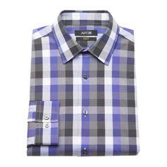 Apt. 9 ®  Slim-Fit Plaid Stretch Dress Shirt - Men $21.99