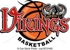 Vector - vikings basketball - stock illustration, royalty free illustrations, stock clip art icon, stock clipart icons, logo, line art, EPS picture, pictures, graphic, graphics, drawing, drawings, vector image, artwork, EPS vector art