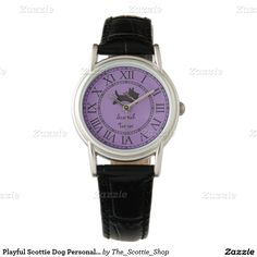Playful Scottie Dog Personalize Wristwatch