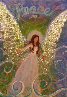 Angel Painting Healing Energy by Breten Bryden Angel Guidance, Angel Drawing, I Believe In Angels, Angel Pictures, Angels Among Us, Guardian Angels, Christmas Angels, Painting Inspiration, Photos