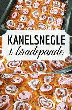 Fantastiske kanelsnegle, der bages i en stor bradepande, så de bliver ekstra snaskede og dejlige. Work Meals, Tea Time Snacks, Danish Food, Dinner Is Served, Pastry Cake, Food Cakes, High Tea, Bread Baking, Food Inspiration