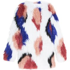 ELIZABETH AND JAMES Patch Work Fur Jacket ($2,361) ❤ liked on Polyvore featuring outerwear, jackets, coats & jackets, multi colored jacket, faux jacket, white faux jacket, elizabeth and james and colorful jackets