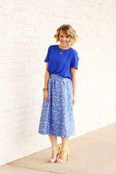 Blue on blue | The Pretty Life Girls | @shabbyapple @cents