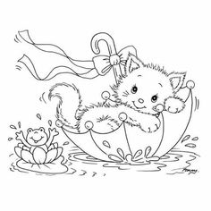g Cat Coloring Page, Animal Coloring Pages, Coloring Book Pages, Coloring Sheets, Coloring Pages For Kids, Kids Coloring, Fairy Coloring, Mandala Coloring, Cat Colors