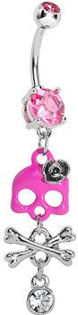 #Body Candy               #ring                     #Pink #Cute #Skull #Dangle #Crossbones #Belly #Ring #Body #Candy #Body #Jewelry                         Pink Gem Cute Skull and Dangle Crossbones Belly Ring | Body Candy Body Jewelry                                                    http://www.seapai.com/product.aspx?PID=1194857