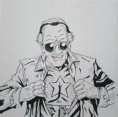Stan Lee Drawing