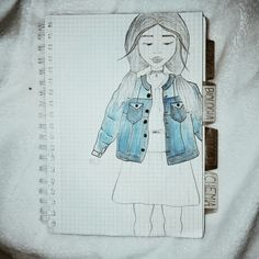 My drawing...🤗💖 insta : nieaniadzieza | girl jeans blue tumblr |