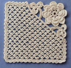 OMGoodness..I love this. A NOT your normal granny square. The others at this site are just a gorgeous!! I'm so making a blanket with this. A girly baby heirloom blanket, oh yes!!